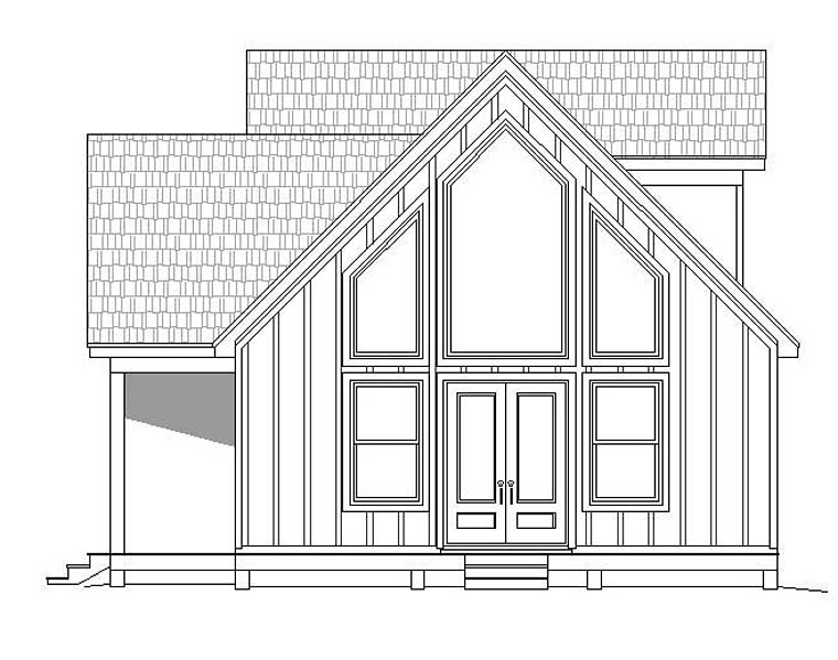 Contemporary, Traditional House Plan 51531 with 3 Beds, 2 Baths Picture 2