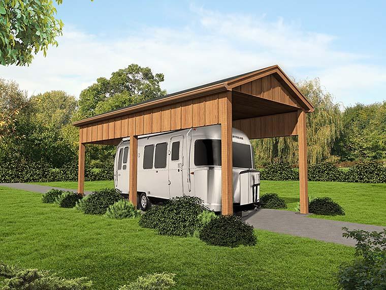 1 Car Garage Plan 51534 Elevation