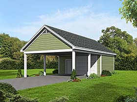 Garage Plan 51536 | Style Plan, 2 Car Garage Elevation