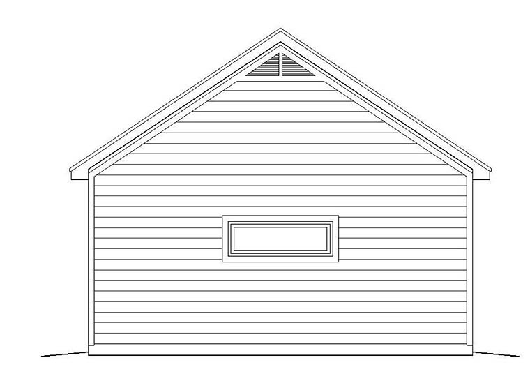 Garage Plan 51536 Rear Elevation