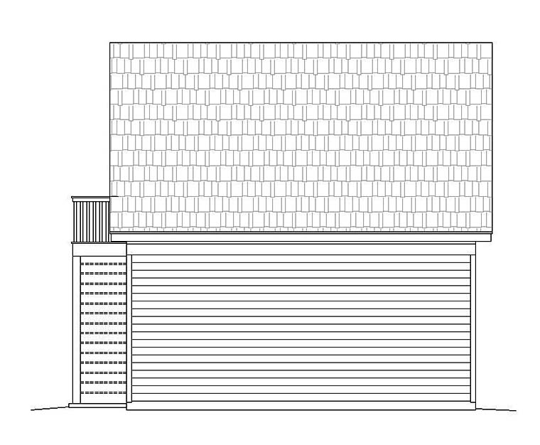 Garage Plan 51537 Rear Elevation