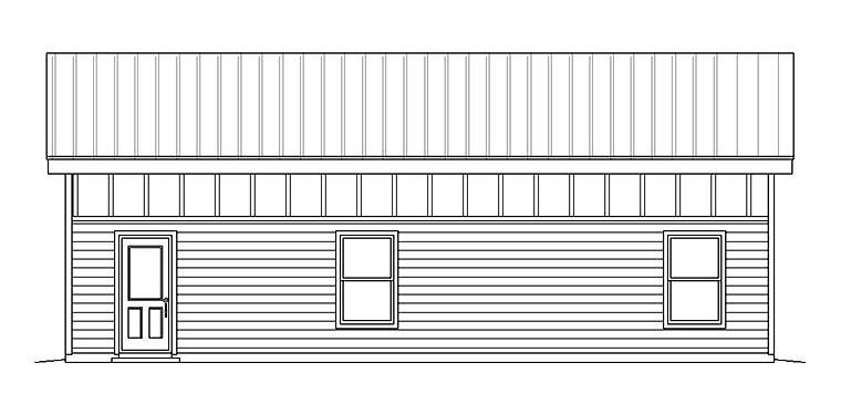 Modern 3 Car Garage Plan 51539, RV Storage Picture 1