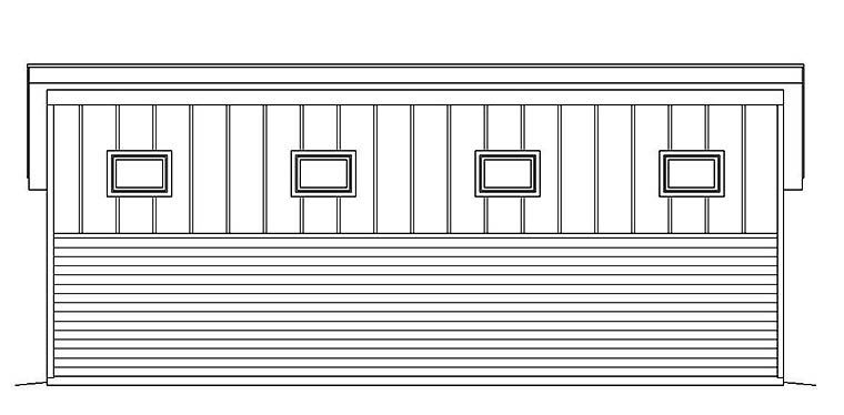 Modern 3 Car Garage Plan 51539, RV Storage Picture 2