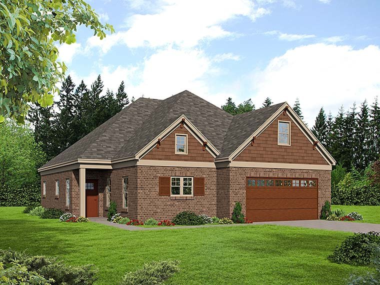 Southern Traditional House Plan 51540 Elevation