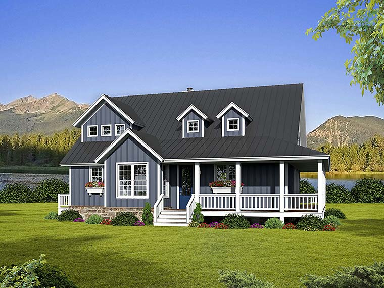 Cabin, Country, Southern, Traditional House Plan 51542 with 3 Beds, 3 Baths Elevation