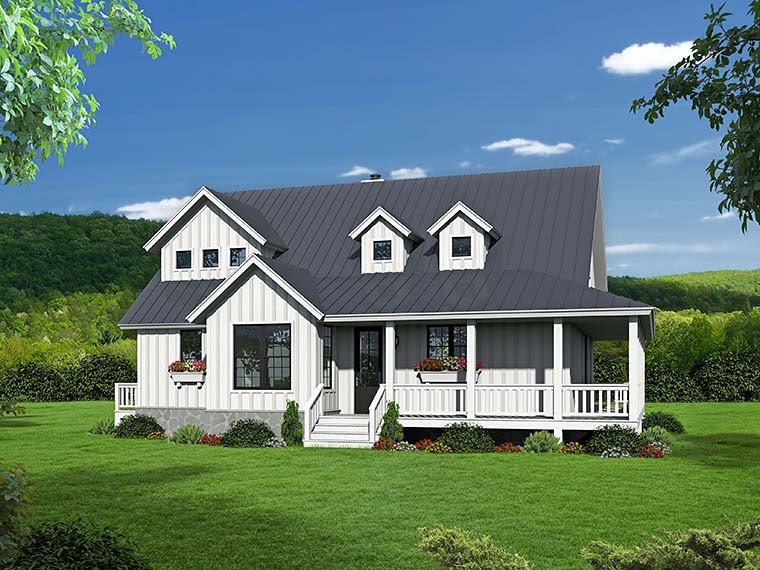 Cabin, Country, Southern, Traditional House Plan 51542 with 3 Beds, 3 Baths Picture 1