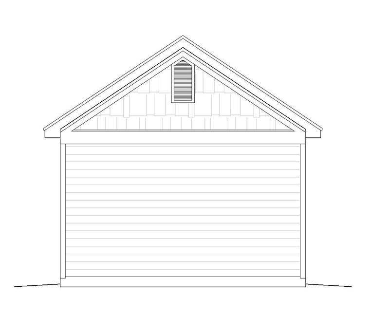 Craftsman Traditional Garage Plan 51544 Rear Elevation