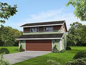 Contemporary Garage Plan 51546 Elevation