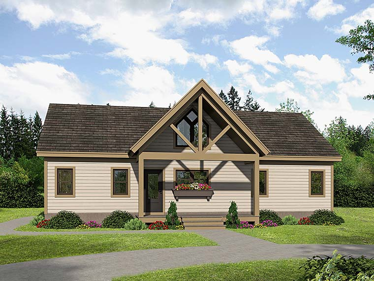 Cabin Contemporary Southern Traditional House Plan 51547 Elevation