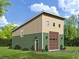 Contemporary Modern Garage Plan 51548 Elevation