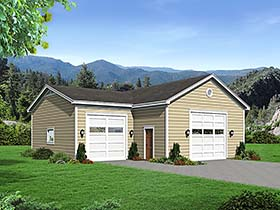 Traditional Garage Plan 51550 Elevation