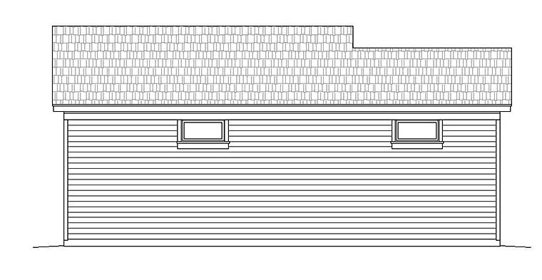 Traditional Garage Plan 51550 Rear Elevation