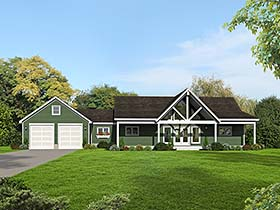 Contemporary Country House Plan 51552 Elevation
