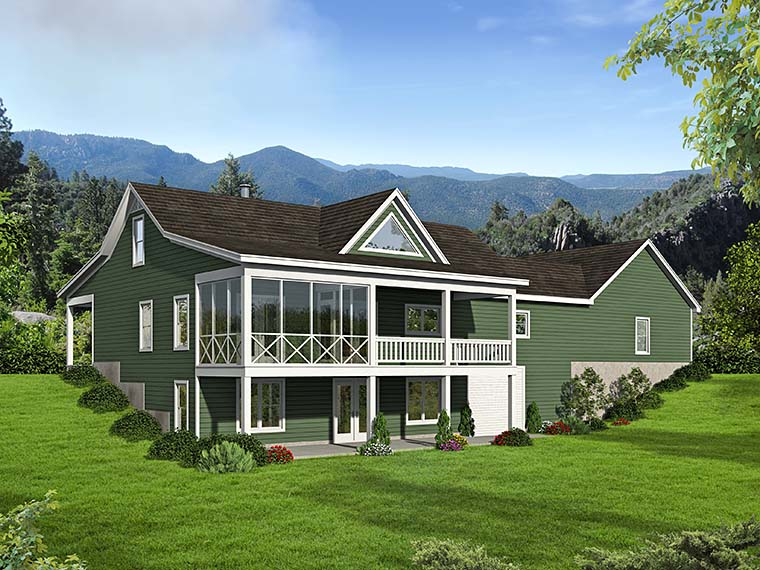 Contemporary Country House Plan 51552 Rear Elevation