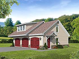 Contemporary Country Garage Plan 51553 Elevation