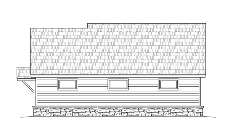 Contemporary Country Garage Plan 51553 Rear Elevation