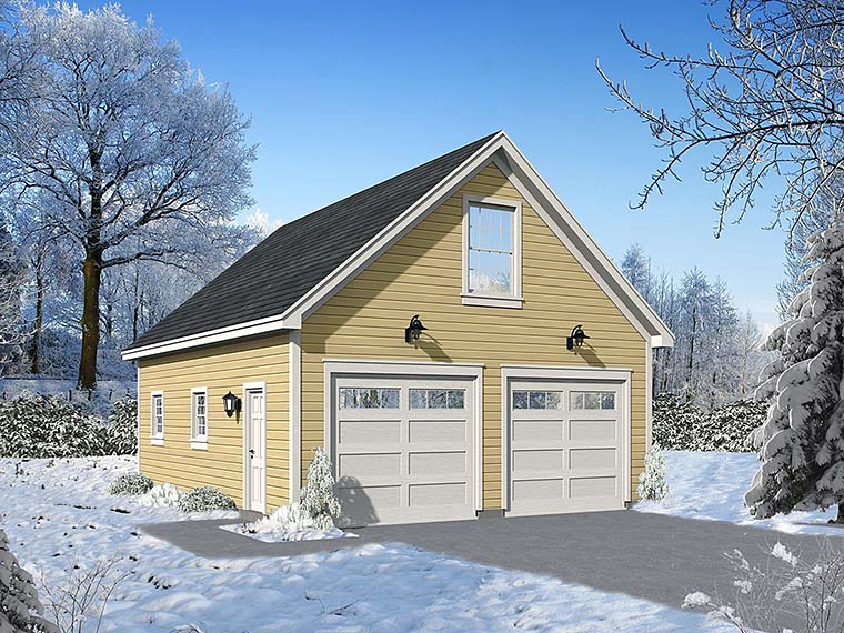 Traditional 2 Car Garage Plan 51558 Elevation