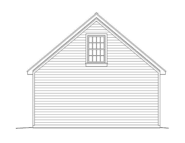 Traditional 2 Car Garage Plan 51558 Rear Elevation