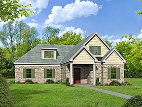 House Plan 51562 | Southern Traditional Style Plan with 2591 Sq Ft, 3 Bedrooms, 3 Bathrooms, 2 Car Garage Elevation
