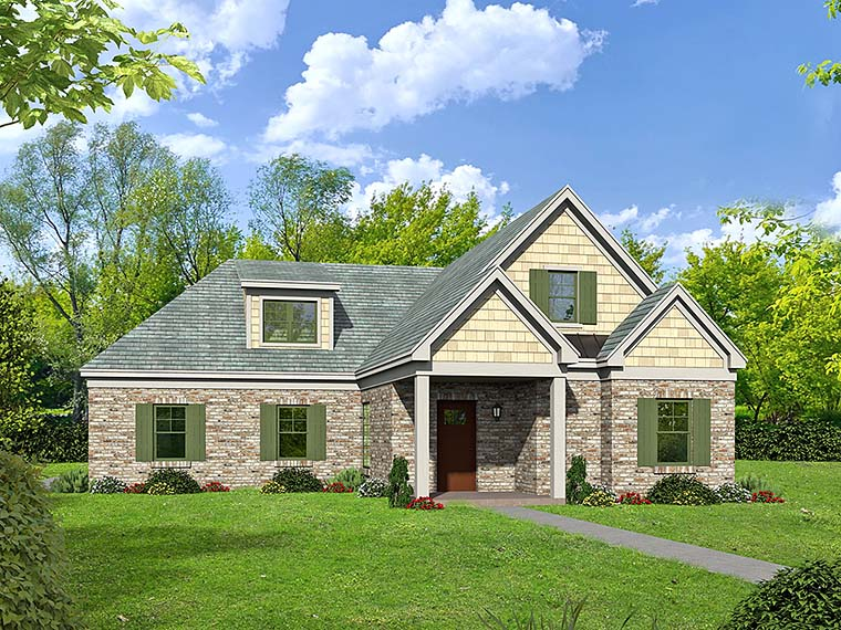 Southern Traditional House Plan 51562 Elevation