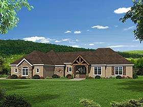 House Plan 51563 | Country Southern Traditional Style Plan with 3292 Sq Ft, 3 Bedrooms, 2 Bathrooms, 3 Car Garage Elevation