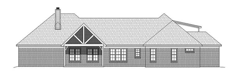 Country Southern Traditional House Plan 51563 Rear Elevation