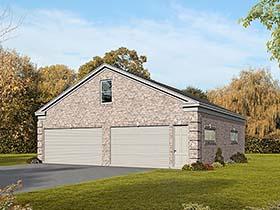 4 Car Garage Plan 51565 with 1 Beds Elevation