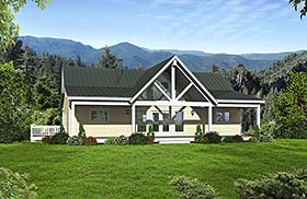 Traditional , Southern , Country , Contemporary House Plan 51567 with 2 Beds, 3 Baths Elevation