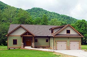 Country Craftsman House Plan 51569 Elevation