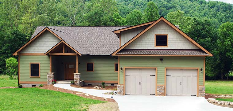 Craftsman, Country, House Plan 51569 with 3 Beds, 2 Baths, 2 Car Garage