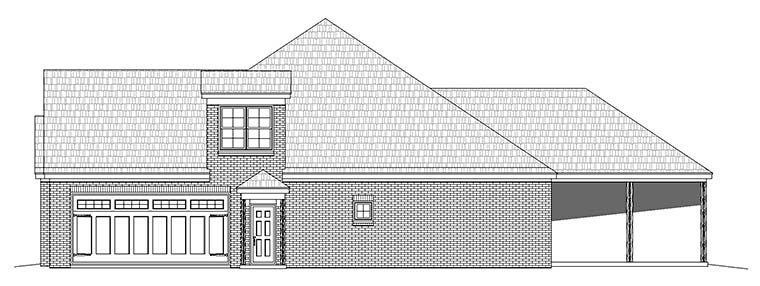 Traditional House Plan 51572 with 3 Beds, 5 Baths, 2 Car Garage Picture 2
