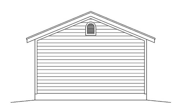 Traditional Garage Plan 51573 Rear Elevation