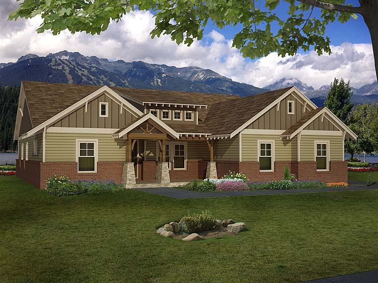 Craftsman House Plan 51575 Elevation