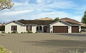 Ranch Traditional House Plan 51576 Elevation