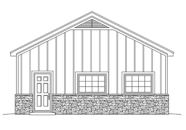 3 Car Garage Plan 51579 Picture 1