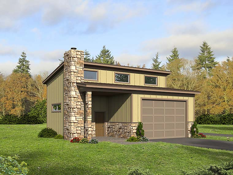Contemporary Garage Plan 51580 Elevation