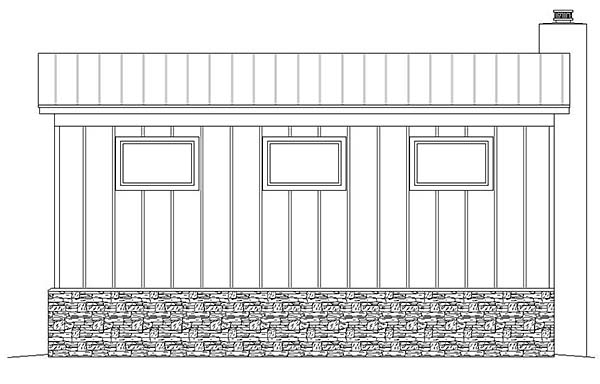 Contemporary Rear Elevation of Plan 51580