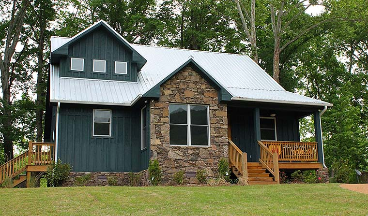 Cabin, Cottage, Country, Southern House Plan 51583 with 3 Beds, 3 Baths Elevation