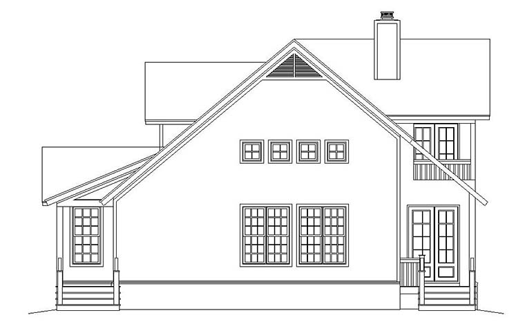 Cabin, Cottage, Country, Southern House Plan 51583 with 3 Beds, 3 Baths Picture 1
