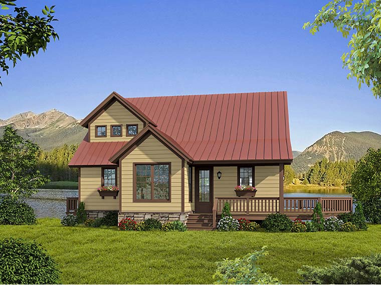Cabin, Cottage, Country, Southern House Plan 51583 with 3 Beds, 3 Baths Picture 3