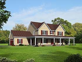 Country Traditional House Plan 51584 Elevation