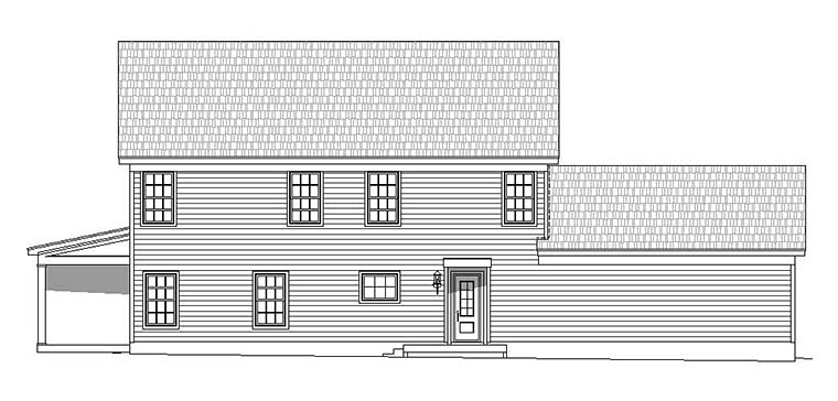 Country Traditional House Plan 51584 Rear Elevation