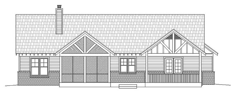 Craftsman Traditional House Plan 51585 Rear Elevation