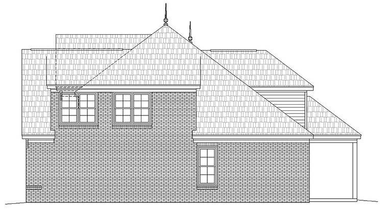 European, French Country House Plan 51586 with 4 Beds, 4 Baths, 2 Car Garage Picture 1