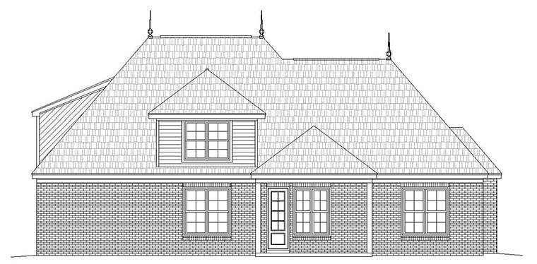 European French Country House Plan 51586 Rear Elevation