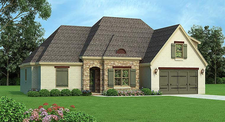 European French Country House Plan 51587 Elevation