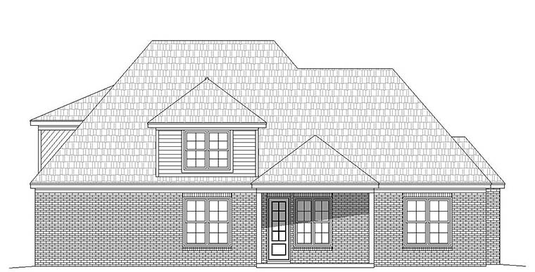 European French Country House Plan 51587 Rear Elevation