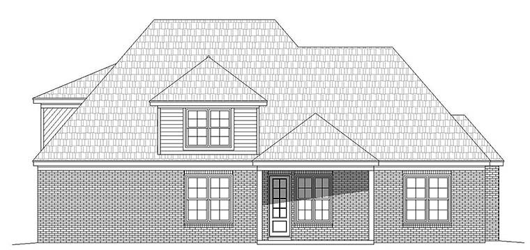 European French Country Tudor House Plan 51588 Rear Elevation