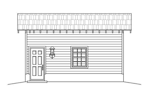 1 Car Garage Plan 51590 Picture 1