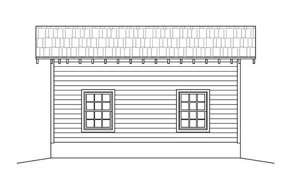 1 Car Garage Plan 51590 Picture 2